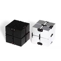 Wholesale First Movies - New Fidget toy the world's first American decompression anxiety Toys fidget cube 4*4*4cm infinity cube Black and Silver 170605