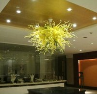 Pendentif Léger Le Plus Vendu Pas Cher-Le plus vendu Murano Blown Glass Pendant Lights Big Hotel Decor Blown Glass Light With LED Ampoules