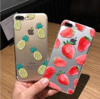 Wholesale Iphone Clear Case Colours - Hot For iphone6 6plus iphone7 7plus Creative full soft cases Watermelon fruit apple following from 6 s thin TPU coloured drawing or pattern