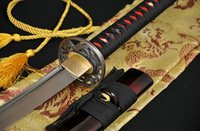 Wholesale High Carbon Steel Katana - teel laser cutting machine Handmade Japanese Samurai Katana Sword 1060 High Carbon Steel Full tang Blade Sharp - Custom Real Espadas Kata...