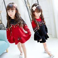 Wholesale Korean Fashion Wholesale Childrens Clothes - Girls Clothes 2017 new Fashion tassels Girls Dresses Cute Korean Girl Dress Kids Dresses Childrens Dress Casual Dresses Kids Clothing A109
