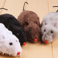 Wholesale Toy Rats Wholesale - Little Rubber Mouse Toy Noise Sound Squeak Rat Talking toys Playing Gift For Kitten Cat Play 6*3*2.5cm 500pcs YYA400