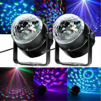 3W DISCO BALL PARTY LIGHTS Suono attivato Stage Light Show per feste DJ Karaoke Wedding Chrismas Outdoor ZJ0208