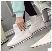bot içeride kürk toptan satış-Kadın Kış Çizmeler Yeni Marka Su Geçirmez Ayakkabı Kadın Kar Botları Kürk Peluş İç Zip Artı Boyutu Sıcak Kadın Çizmeler. SP-027