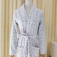 Wholesale Cotton Bathrobes Men Wholesale - Foreign trade European original single robe bathrobe men and women winter leopard coral household goods Women's Underwear