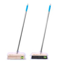 Wholesale Broom Handles - The sweep of Stainless steel handle,Bristle broom,No pollution of static electricity dust removal the broom straw sweepers