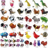 Wholesale Latex Balloon Animals - Walking Pet Animal Helium Aluminum Foil Balloon Automatic Sealing Kids Baloon Toys Gift For Christmas Wedding Birthday Party Supplies 2558-2