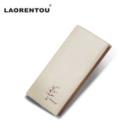 Vente en gros - LAORENTOU Exclusif Design Tree Pattern Cuir en cuir véritable Wallet Cuir de vache Longs Femmes Sac à main Lady Party Portefeuille N5