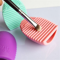 Wholesale Brushes Gloves - New Pop Brush Egg Cleaning Make up Washing Brush Silicone Glove Scrubber Cosmetic Foundation Powder Clean Tools