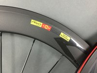 Wholesale Straight Pull Spokes - U shape Free shipping 25mm width Straight pull 60mm front 60mm rear clincher bicycle wheels powerway R36 carbon hub CN 424 spoke