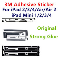 Wholesale Black Sticker Screen For Iphone - Pre-Cut 3M Adhesive Strip Double Side Tape Sticker Strong Glue For ipad 2 3 4 mini Air Touch Screen Digitizer Black Repair Parts