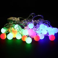 Ampoules D'ornement De Noël En Gros Pas Cher-Grossiste-Top qualité 5,5 M 28LED ampoules étanche boule ronde Christmas Fairy Party String Lights décoration d'arbre de Noël Décoration intérieure