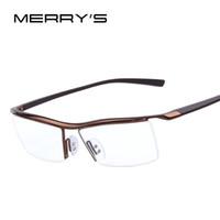 Wholesale eyeglasses rack - MERRY'S Men Optical Frames Eyeglasses Frames Rack Commercial Glasses Fashion Eyeglasses Frame Myopia Titanium Frame TR90 Legs