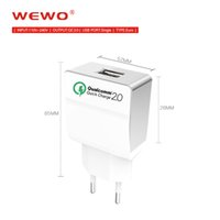 Wholesale I Phone Wall - Qualcomm Certified High Quality Quick Charge 2.0 Wall USB Fast Phone Charger Adapter For Xiaomi Samsung I Phone Chargers