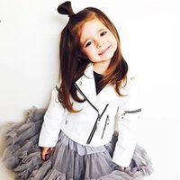 Wholesale Leather Jackets For Babies - Ins Spring Kids Jacket PU Leather Girls Jackets Clothes Children Outwear For Baby Girls Boys Clothing Coats Costume Winter 1-7Y
