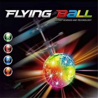Wholesale Drone Led - Toys RC Helicopter Ball Flying Induction LED Noctilucent Ball Quadcopter Drone Suspension Remote Control Aircraft for Kid Xmas Gift DHL Free