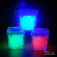 Wholesale Icing Decorations Wholesale - High Quality 3.5CM Press control Ice Cube Flash LED Light For Party Wedding Bars Christmas Decoration
