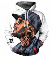 Wholesale Cartoon Characters Sweaters - New Fashion Couples Men Women Unisex Cartoon Characters Singer Chris Brown 3D Print Hoodies Sweater Sweatshirt Jacket Pullover Top S-5XL