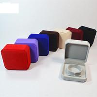 Wholesale Gift Packing Jewelry - Top Grade 9*9*4cm Velvet Jewelry boxes bracelets bangle packing cajas de regalo Gift Box Caixas para presente wholesale Free Ship