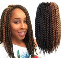 Free Shipping Box Braids Hair Crochet 12 '' Crochet Hair Extensions Synthetic Crochet Braid Senegalese Twist Braid Hair Jumbo Hairstyles