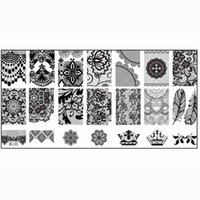 Wholesale Beautiful Templates - Wholesale- Fashion Series steel nail Stamp Stamping Image Konad Plate Print Nail Art Template DIY Beautiful Crown Flowers JL08