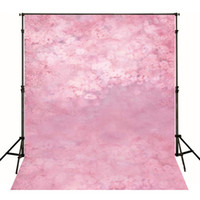 Wholesale Backdrop Vinyl Pink - Pink Flowers Newborn Baby Photo Shooting Props Wallpaper Vinyl Floral Backdrop Fantasy Photography Backgrounds for Studio