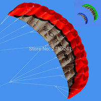 Wholesale Kite Stunt - Wholesale- 2.5m 8ft Dual Line power Stunt kite Parafoil Parachute Beach surfing sport with flying line 3 colors