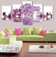 Wholesale Large Canvas Wall Art Wholesale - (no frame)large wall art home decor purple butterfly wall pictures for living room modular paintings cuadros poster