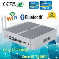 Wholesale Htpc Graphics Cards - School Mini pc i5 7200U Barebone HTPC Intel Nuc Fanless Computer 12V Broadwell Graphics HD 520 300M Wifi