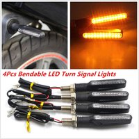 Wholesale Wholesale Motorcycle Led Kit - 4XUniversal Motorcycle Turn Signal 12LED Light Indicator Blinker Lamp waterproof