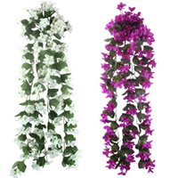 Wholesale cheap wall mounts - 5pcs Lot Artificial Flowers For Wedding Decoration Cheap Silk Artificial Flowers Home Garland Fake Hanging Plants Party Supplies