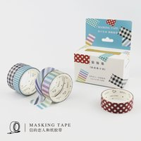 All'ingrosso- Plaid Strip Pattern Ferramentas Para Scrapbook Strumenti Simbolos Adesivi Decorare Tape Paper Washi Tape Adornos Navidad 2016