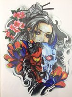 Wholesale Tattoo Devil - Wholesale-2016 Hot Sale21 X 15 CM Devil girl under the mask Temporary Tattoo Stickers Temporary Body Art Waterproof #114