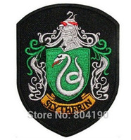 Wholesale Dropship Housing - Harry Potter House SLYTHERIN Crest Emblem TV Movie Embroidered Robe Iron On Patch rock retro applique wholesale dropship