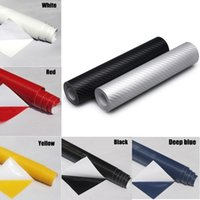 Wholesale 3d Vinyl Sheets - 3D Carbon Fiber Vinyl Car Styling Wrap Sheet Roll Film Sticker Decal 12 x 50 inch CEA_305