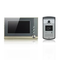 Wholesale Color Video Door Card - champagne video door phone 7 inch color screen with unlock by swipe ID card