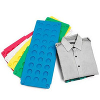 Wholesale Plastic Shirt Folder - Magic Folding Clothes Board Kids Laundry Magic Fast Speed Folder Clothes T-Shirt Fold Board Organizer T-Shirt Fold Board CCA5907 100pcs