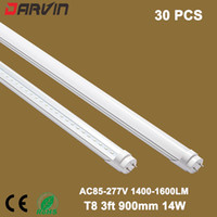 3ft Led Tube Lâmpada T8 900MM 90cm 14W Split Led Tube Lights Energy Saving Lights 110v 220V, FREE SHIPPING