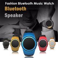 Baixo preço B20 Bluetooth Sports Music Speaker Watch Mini relógio portátil com auscultadores EDR Sport Speaker TF Card FM Audio Radio Speakers