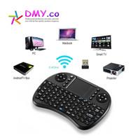 Wholesale Ipad Mini Keyboard Russian - AAA Quality i8 Mini Wireless Keyboard Touch Pad Air Mouse for PC Laptop iPad Android TV BoxHebrew Arabic English Russian Spanish Italian