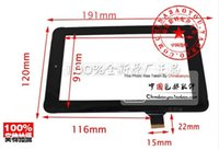 Wholesale Onda V711s Quad Core - Wholesale-7inch 1409 HLD130624 Onda V701S V711S V703 quad-core HLD130624 MA704A6 (H) touch screen panel glass noting size and color
