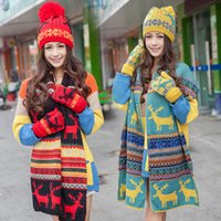 Wholesale Korean Wool Gloves - Hats Scarves Gloves three-piece set autumn and winter warm knitted wool scarves hats gloves Korean female autumn and winter