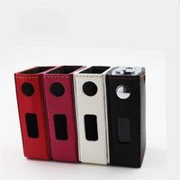 Wholesale Evic Wraps - Leather Case For EVIC VT Colorful Protective Wrap Cover Carrying Decorative Bag Leather Material E Cigarette Case For Evic Vtc box mod DHL