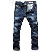 Wholesale New Jeans Classic - Wholesale-Patchwork Top Quality Slim Jeans,2015 New Fashion Jeans Men,Classic Character Men's Jeans,100% Cotton, Large Size 28-38,JS301