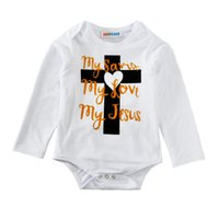 Wholesale red cross clothing for sale - Baby Rompers Cross Heart Jumpsuits New Kids Clothing Sets Winter Autumn Spring Long Sleeve Baby Casual Suits Infant Rompers M