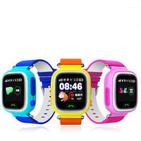 relógio de acompanhamento de gps para crianças venda por atacado-Q90 Inteligente Relógio Criança Localizador de Localização SOS Dispositivo Rastreador Kid Safe Anti Perdido Monitor GPS Faixa de Sono Tela de Toque WIFI Smartwatch
