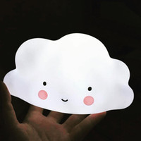 Wholesale Smiling Faces Lamps - Cute Smile Face Cloud Nightlight Night Light Children Kids Bedroom Decorate Night Lamp Toy LED Lights