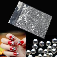 Wholesale Wholesale Acrylic Gems Flat Back - 2000pcs 1.5mm-2mm Shining Nail Art Diamonds Sticker Silver Nail Art Rhinestones Acrylic Decoration Flat back Gems