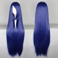 Wholesale Naruto Hinata Wig - MCOSER Free Shipping New Naruto Hyuuga Hinata Blue 100cm Long Sttraight Synthetic Heat Resistant Cosplay Wig