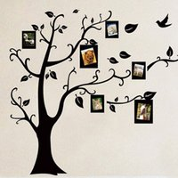 Wholesale Free Photo Wallpaper - Wholesale- A31 Large Size Free shipping new arrival PVC Photo Frame trees wall stickers living room bedroom wall decor decals VB351 P